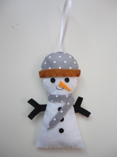 Sneeuwpop wit/grijs/bruin