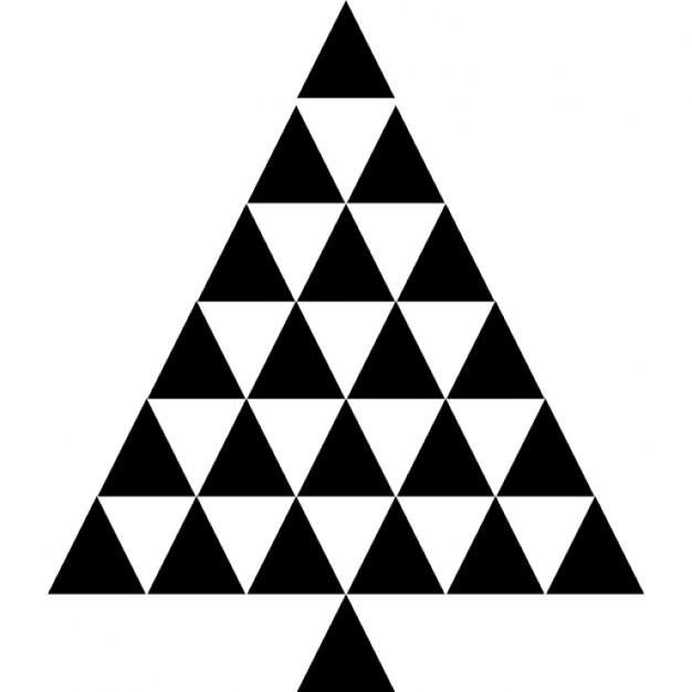Driehoek muurstickers om kerstboom te maken