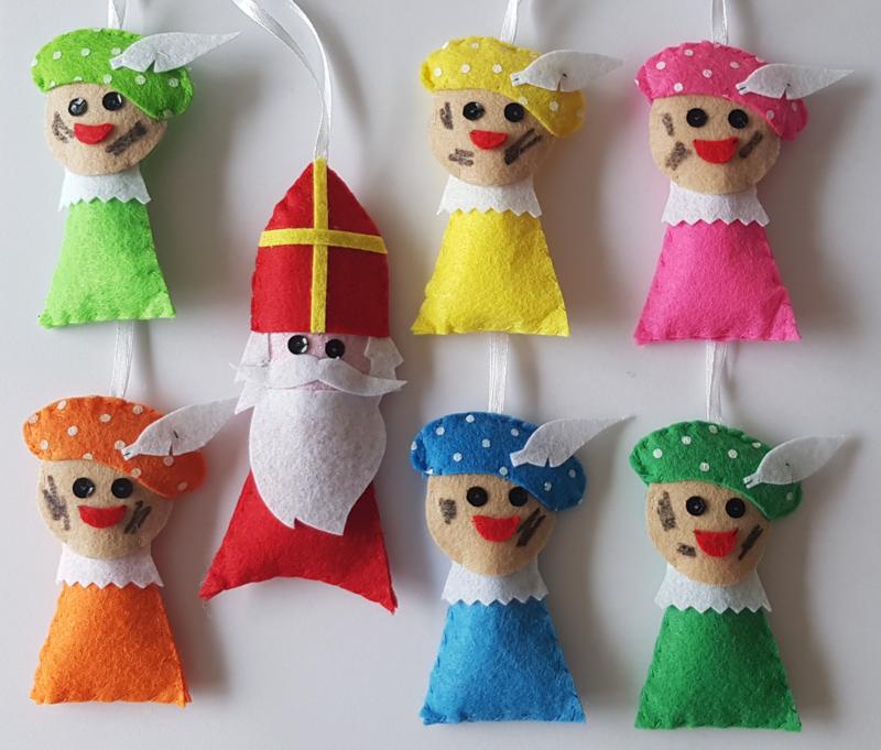 Sinterklaas en 6 Pietjes