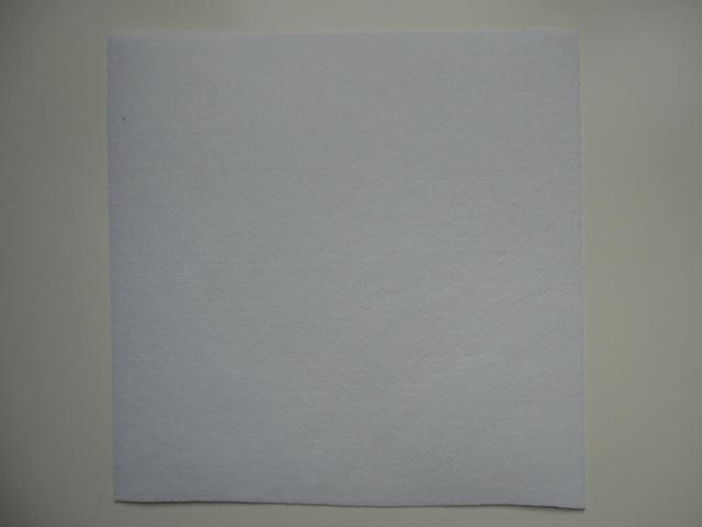 Vilt lapje wit
