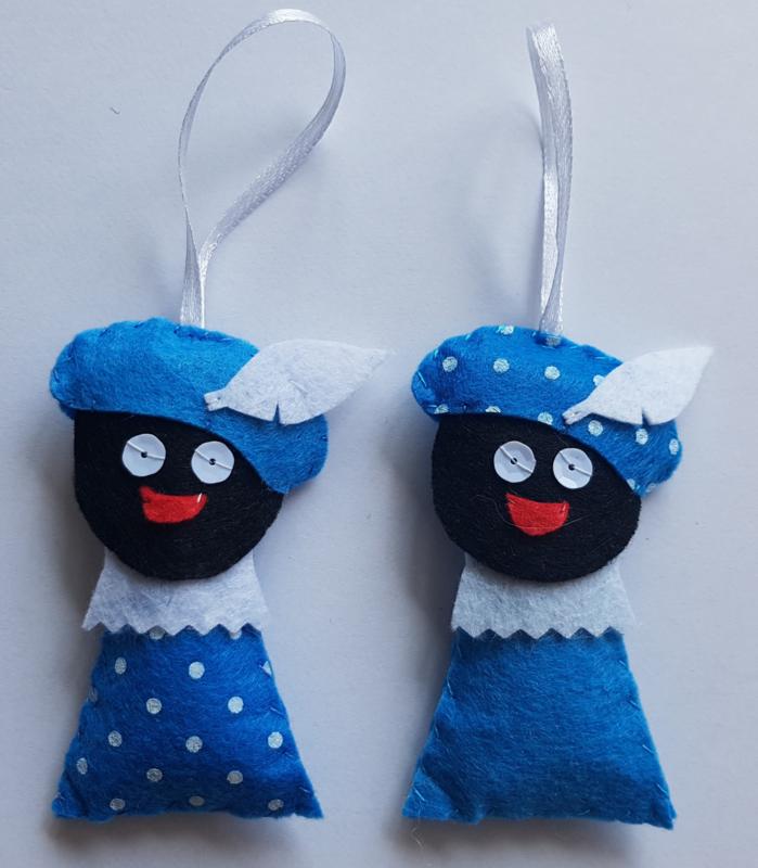 Zwarte Pietjes blauw 2 stuks