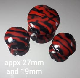 IKRD0023: Set van 3 Lentils Rood & Zwart, 27mm en 19mm