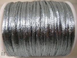 Satijnkoord 2mm grijs per meter (wordt aaneen geleverd)