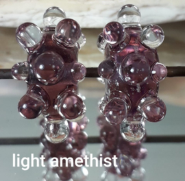 IKPR0009: DuoSet Bumpy's LightAmethist, ca 9x17mm