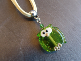 GR 0069: Homemade owl-bead on a necklace