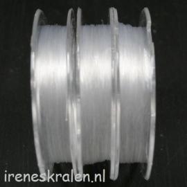 Nylondraad 0.25mm, rol 30 meter, transparant (ook wel visdraad genoemd)