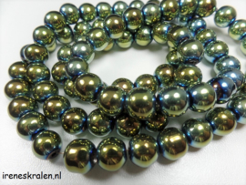GG 002: GlasParel Rond GroenBlauw 8mm