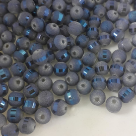 GBL 008: Metallic Ball Glass GreyBlue, appx 6/7mm