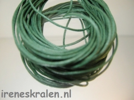 Waxcord 1mm zakje, Groen-donkergroen 5 meter