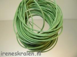 Waxcord 1mm zakje, Groen-middengroen 5 meter