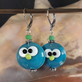 TU0016: Lampwork Earrings Cuties, appx 4,5cm
