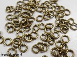 Enkel Ringetje Bronskleur 5mm - 1mm dik - ca. 50 stuks