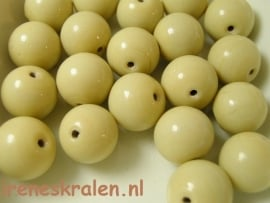 GB 117  Rond beige opaque, 13mm, lampwork