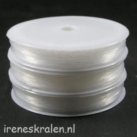Nylondraad 0.4mm, rol 45 meter, transparant (ook wel visdraad genoemd)