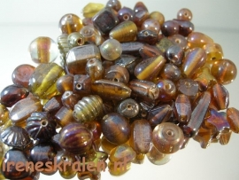 GB006: GlassBead Mix Brown, appx 100 gram