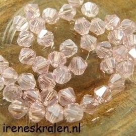 Groze 104 Kristal Konisch geslepen/Toupille, 6mm, Rosaline