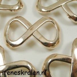 Gd 003: Hanger/Tussenstuk Infinity, Rose Metallook, 44x25mm
