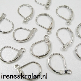 EarHook NickelColor Closed 15x10mm (10x)