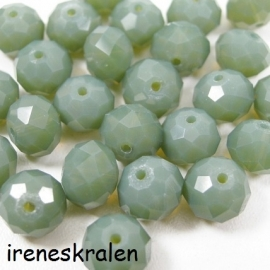 GG 113 Faceted JadeGreen 7x10mm (1.3mm hole)