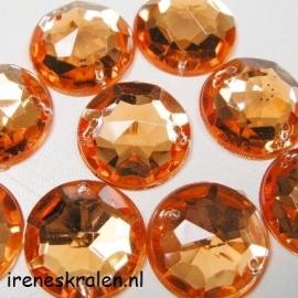 Opnaaisteen Rond 18.4mm Oranje