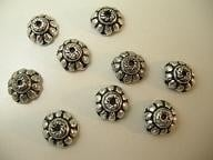 BeadCap 14: Floral 10mm Metallook
