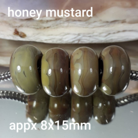 IKBR0045: Set van 4x GrootGatKraal, Honey Mustard, 8x15mm