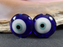 IKBL0002: Set van 2 Lucky Eyes Blauw, ca 19mm