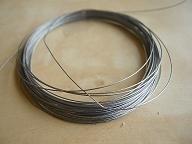 Gecoat Staaldraad zilver B-keus 10 meter