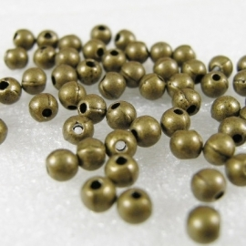 Gd 076: Metalen Kraaltje Rond Brons 4mm