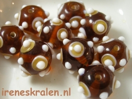 GB103: Eyebead bumps , 13x15mm lampwork