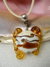 BR0103: Homemade Focal GlassBead on Necklace