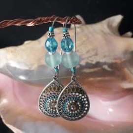 TU0040: Oorbellen Turquoise
