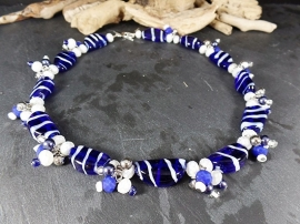 BL0003: Blue & White Necklace