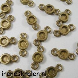 Gd/Br 111 Tussenzetsel, metaal bronskleur, 16mm