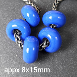 BH0020: Opaque Bead Royal Blue, appx 8x15mm (sold per bead)