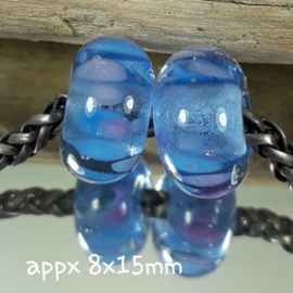 IKBL0027: Set of 2 Big Hole Beads, appx 8x15mm