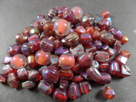 Grd 010: GlassBeads Mix Red 100 gram