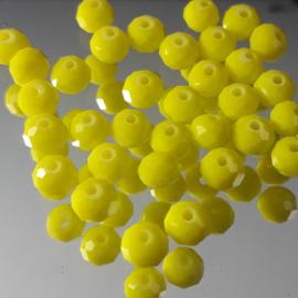 GE24: FacetKraal Groenig Geel, ca 5x6mm