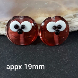 IKPR0001: Set of 2x Cutie RaspBerry DoubleSided, appx 19mm