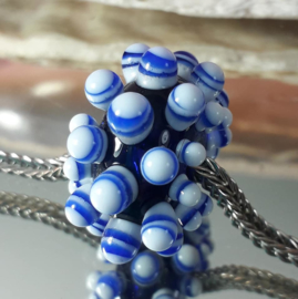 IKBL0601: BIG Bumpy Big Hole Bead Blue, appx 18x27mm