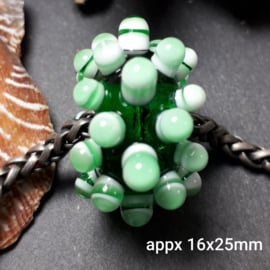 IKGR0041: BIG Big Hole Bead EmeraldGreen