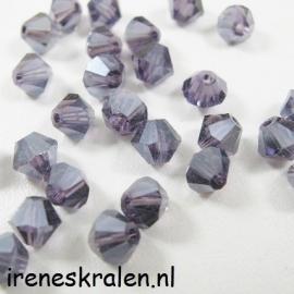 Gprs 015 Kristal Konisch geslepen/Toupille, 6mm, Tanzanite