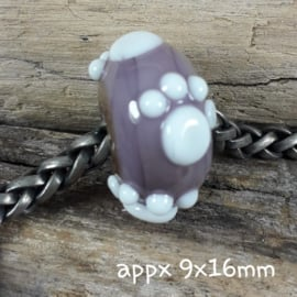 IKPR0004: BIG Big Hole Bead with PawPrint AllOver, appx 9x16mm