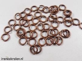 Enkel Ringetje Koperkleur 6mm - 1mm dik - ca. 50 stuks