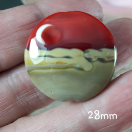 IKRD0028: Big Focal Lentil Bead DoubleSided, appx 28mm