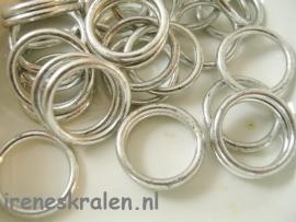 M 137 Metallook ring glad, 18mm
