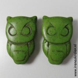 GG 107: Stone Owl appx 28x19mm doublesided