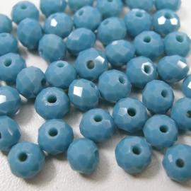 GAq008: Facetkraal Donker Turquoise, 5x6mm