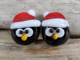 IKZW0027: Pair Penguins DoubleSided, appx 16mm