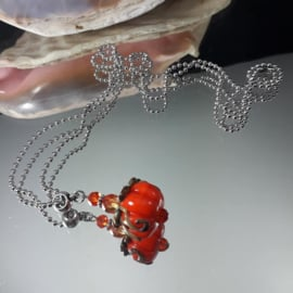 OR 0007: Long BallChain-necklace with Pumpkin
